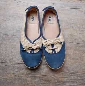 UGG | Catrin Navy Blue Flats Ladies Size 6